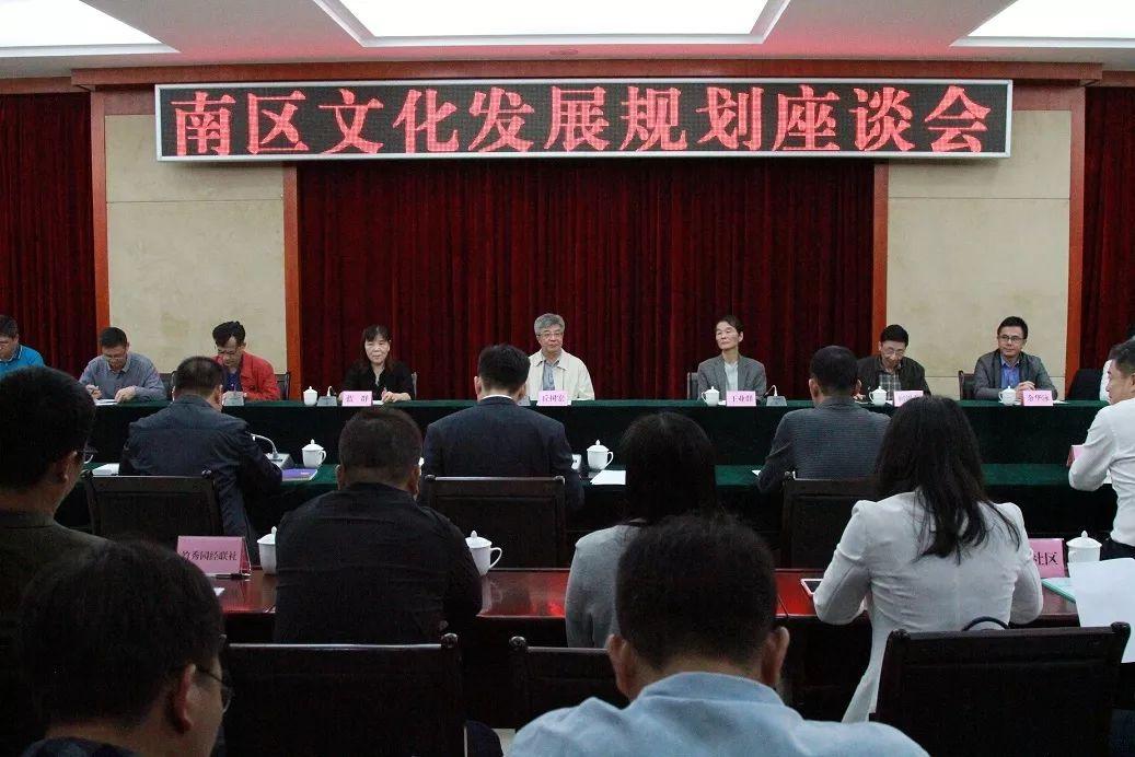 产城创投——园区梦工场创始人陈迩应邀参加南区文化发展规划座谈会