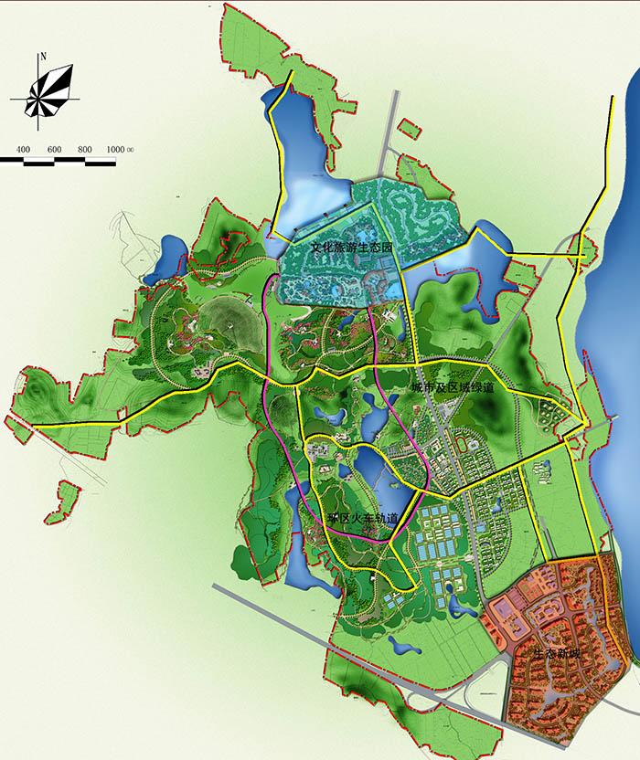 规划占地面积1020亩,项目计划分三个阶段建成