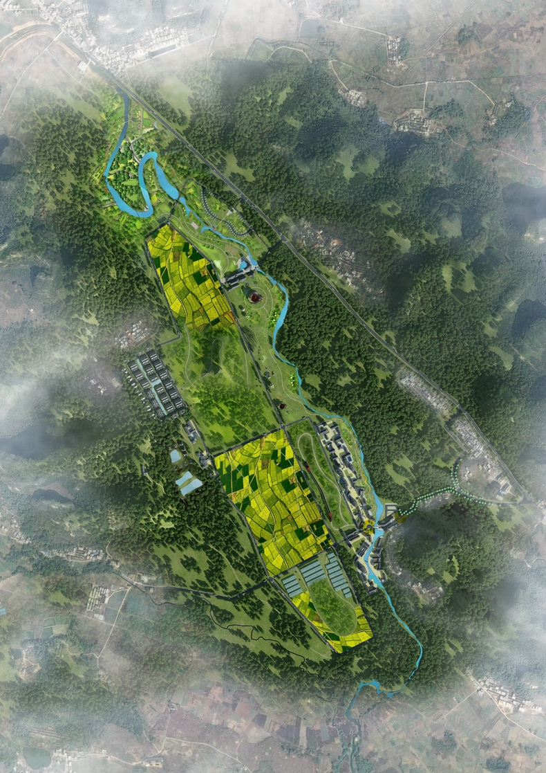 广东(英德)百担洞生态农业旅游基地总图