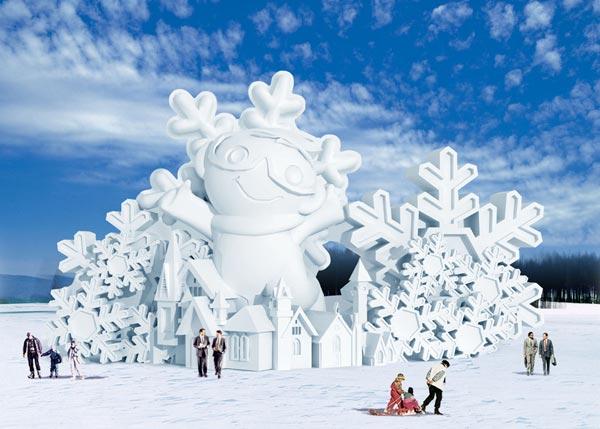 冰雕与雪雕