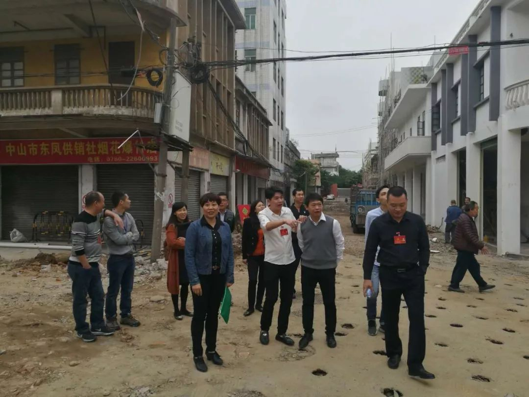 代表们来到东凤镇供销社老街施工现场